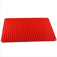 Wholesale Bakeware Baking Pastry Tools Pc Red Pyramid Pan Nonstick Silicone Baking Mat Mould Cooking Mat Oven Baking Tray