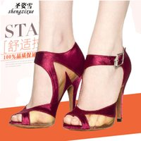 Wholesale Europe and Latin shoes high heeled shoes square dance dance shoes