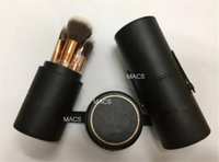 barrel brush - 12pcs Anas Makeup Brushes Sets Professional anast Makeup eye brow foundation blush eyeshadow Brush with Leather Barrel