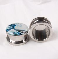 Wholesale DHL Free Stainless Steel mm mm Ear Plugs Piercing Jewelry Ear Tunnels Expander Ear Gauges Stretchers Tunnel