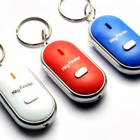 batteries key finder - new Whistle Key Finder Anti lost Mini Phone Finder Key tracker Item Finder Keychain Replaceable Battery Wallet Locator Locating cars gift