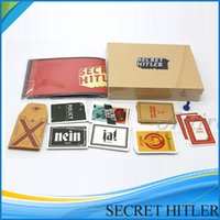 Wholesale High quality SECRET HITLER Games previously elected NEW president chancellor Card Kickstarter Edition Board Game Party Card Playing cards