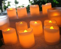 Wholesale 24 LED Tea lights Candles Battery Powered Small Bright Flickering Flameless Candles for Home Decoration Warm White