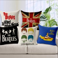beatles pillow - Pillow Massager JPEG Design Off The Shelf The Beatles Flax Linen Sofa Long Cushions Covers Software Installed Bedding Set Throw Pillow Cases