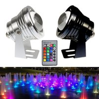 Wholesale W V RGB LED Underwater Fountain Light LM Swimming Pool Pond Fish Tank Aquarium LED Light Lamp IP68 Waterproof Colors