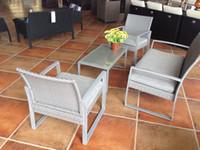 Wholesale Rattan Wicker Patio Sofa Cushion Seat Set Furniture Lawn Outdoor Rattan Aluminium Garden Furniture Sofa Set Outdoor Wicker sofa