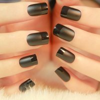 acrylic textures - 24 Chic Frosted Surface Texture Decorated Solid Color Nail Art Nails False Nails Fake Nails