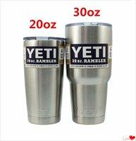 Wholesale Yeti oz oz Cups Cooler YETI Rambler Tumbler Travel Vehicle Beer Mug Double Wall Bilayer Vacuum Insulated