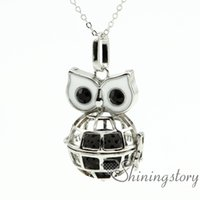 hibou collier huile essentielle gros collier diffuseur collier aromathérapie diffuseur collier aromathérapie gros métal pierre volcanique