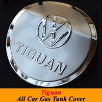 Wholesale Tank Covers For Volkswagen Vw Tiguan Stainless Steel Fuel Tank Cover Oil Cover Gas Tank Cover