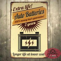 auto battery cost - Vintage posters Longer life at lower cost the Auto Batteries Classic Vintage Paper Wall Poster H