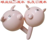 Wholesale Inflatable Animal children Toys Inflatable Pig Hammer Inflatable Stick Children Toy