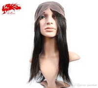 Wholesale ALi Queen Straight Full Lace Lace Front Human Hair Wigs Straight For Black Women Brazilian Virgin Hair Straight Wigs