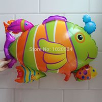 aluminium group - Tropical Fish group balloons for party decoration aluminium foil balloons Tropical Fish Cluster