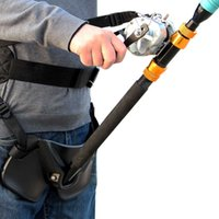Wholesale High Quality Big Fish Sea Fishing Fighting Belt Rod Holder Stand Up Adjustable Belt Waist Rod Holder Fishing Tackles Tools
