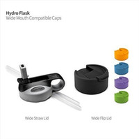 Wholesale DHL hydro flask Straw Lids hot Hydro Flask Wide Mouth water bottle caps lids with Two Plastic Straws