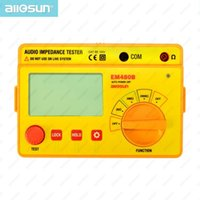 Wholesale all sun EM480B Audio Impedance Tester Portable CATIII Test Ranges Resistance Meter KHz Timer Function Data Hold