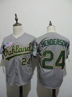 Wholesale MLB Oakland Athletics HENDERSON New Men s Baseball Jerseys grey white colors CANSECO HEYWARD Flexbase all sizes MIX ORDER