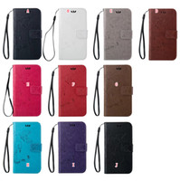 ace strap - Flower Butterfly PU Wallet Leather Pouch Flip Case For Samsung Galaxy Alpha G850 G850F Core Plus G350 G386 ACE G313 Stand Card Strap Cover