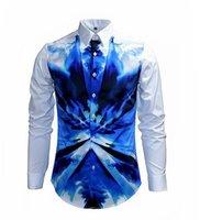 best fitted dress shirts - best selling Man shirt Fashion Design Long Sleeve Slim Fit man Casual Shirt Fashion Pattern Men Dress Shirts High Quality