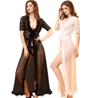 Wholesale High quality Free Size Sexy Lingerie hot women Rose Lace Splice Feather elegant mesh court dress erotic long nightgown sexy costumes