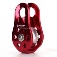 Wholesale Mountaineering Climbing Rope Pulley Arborist Tree Climb KN or kg Red