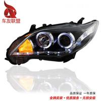 Wholesale Taiwan Longding corolla modified angel eye headlight assembly corolla eyes headlights xenon lamp
