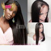 Wholesale Silk Base Brazilian Straight Yaki Full Lace Front Human Hair Wigs Natural Color Silk Top Remy Human Hair Lace Front Wigs With Baby Hair