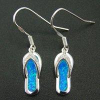 925 Sterling Silver fines boucles d'oreille opale gros Boucle Modèles Féminins Bijoux flip Mignon Flop Jewelry Factory