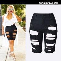 Cheap 2016 New Arrival Summer Shorts Women Personality High Waist Shorts Fashion Black Ripped Short Jeans Woman Denim Shorts B585