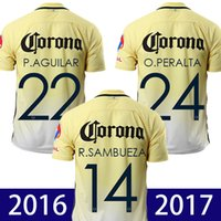 Wholesale 2016 mexico club america soccer jerseys A TENA ROMERO O PERALTA SAMBUEZA Camiseta de futbo D BENEDETTO R SAMBUEZA football shirt