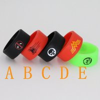 Wholesale spider series vape bands mm bitman superman silicone ring