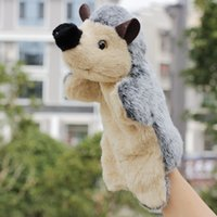animal farm play - New arrival animal clown hedgehog hand puppets for kids finger tell a story toy farm puppet doll baby toys animal puppet play