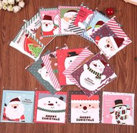 Wholesale Diy greeting card holiday christmas greeting paper card mix colours