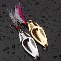 fishing gear - Fishing Tackle Lure Bait Long Shot Fishing Metal Alloy g Hard Lure Treble Hook With Sound Slice Wobbler Carp Fishing Tackle Spinner Gear