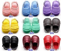 Wholesale Summer baby moccasins sandals soft soles and elastic baby RUBBLE shoes prewalker Infant Babies Shoes colors