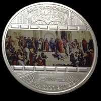 ars arts - 20 Cook Island master pieces of art Vantican Ars silver plated colored Elizabeth souvenir Coin OD about mm