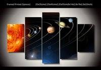 art panel systems - Framed Printed our solar system piece picture painting wall art children s room decor poster canvas F
