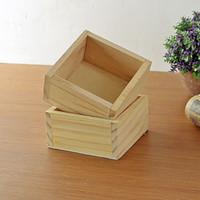 Wholesale zakka grocery retro do the old wooden storage box cosmetics creative gardening pots succulents