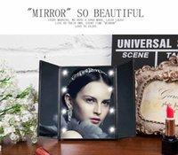 adjusting plastic frames - Intelligent Adjust Makeup Mirror Light Brightness Folding Cosmetic Mirror Portable Desktop Mirror LED Star Light Lamps Best Gift For Lady