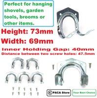Wholesale Wall mounted Hose Shovel Broom Steel Hooks Home Garden Tools Hanger Fitting Good Helper