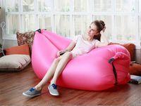 Cheap 2016 New Lamzac Fast Inflatable Hangout Sleeping Bag Lazy Sofa Beach Sleep Bed Air Camping Nylon Bed Outdoor Chair