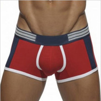 Wholesale Asian size not European American size sexy patchwork cotton boxers colors brand men boxer breathable men underwear