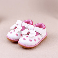 Wholesale 2016 New Spring Summer Baby Gilrs Fashion Sneakers pink heart Cute Bow Toddler Soft Sole Infant Kids Shoes