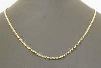 belcher chain necklace - 9ct Yellow Gold quot Round Link Micro Belcher Chain Necklace mm Link