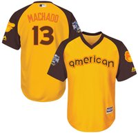 authentic boy names - 2016 Cool Base All Star Baltimore Orioles Kids Authentic Manny American Yellow Baseball Jerseys Name Number All Stitched Best Quality