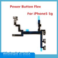 For Apple iPhone Bar  50pcs lot High Quality On   Off Power Switch Flex Cable For iPhone 5 5G Power Button Flex Cables Mobile Phone Part Free shipping