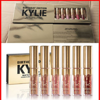 Wholesale mini set Gold Kylie Jenner Birthday Edition Lip Kit Matte Liquid Lipsticks Lipstick Lip Kits Gloss Cosmetics Leo Lipgloss in stock