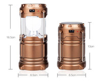 Wholesale Emergency Super barn lantern new LED solar charging camping camping lamp outdoor portable telescopic emergency super lantern