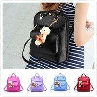 bear artwork - Brand new wave of female students backpack spring and summer fashion women casual shoulder bag Bear BAG100